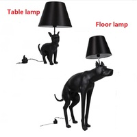 Modern Black Abajur Dog Desk Lamp Fixture Bedroom Study Table Lamp Nordic Animal lampe Table Living Room Reading Lamp 110V 240V