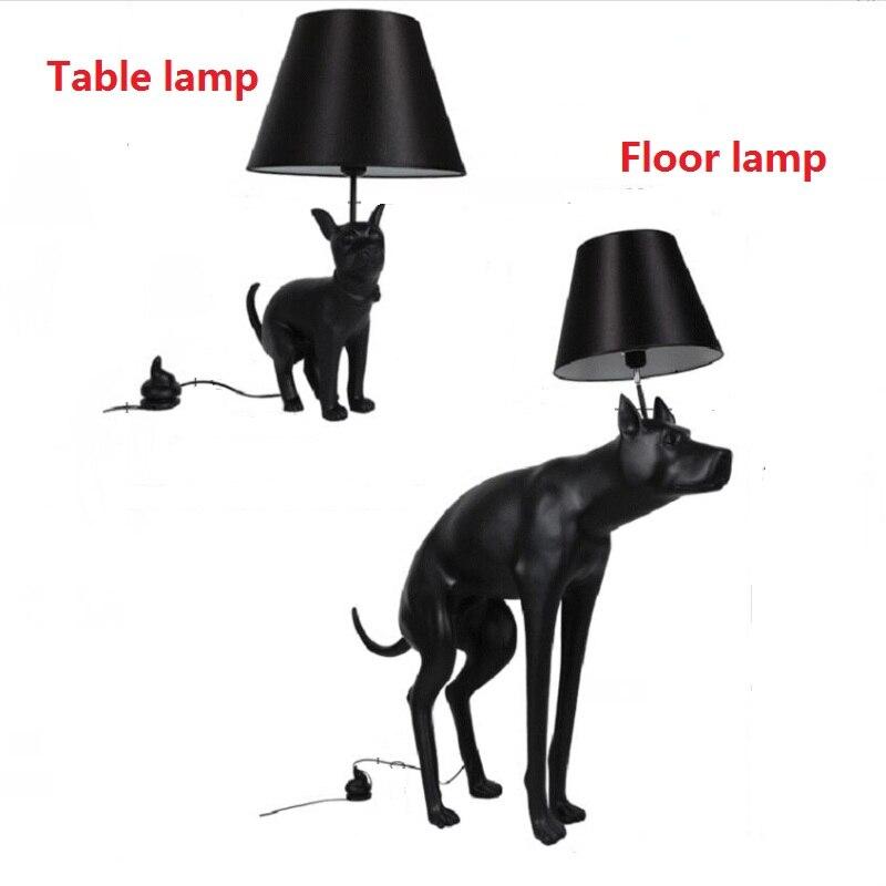 Moderne Noir Abajur Chien Lampe de Bureau Luminaire Chambre Étude Table lampe Nordique Animal lampe de Table Salon Lampe de Lecture 110 V 240 V