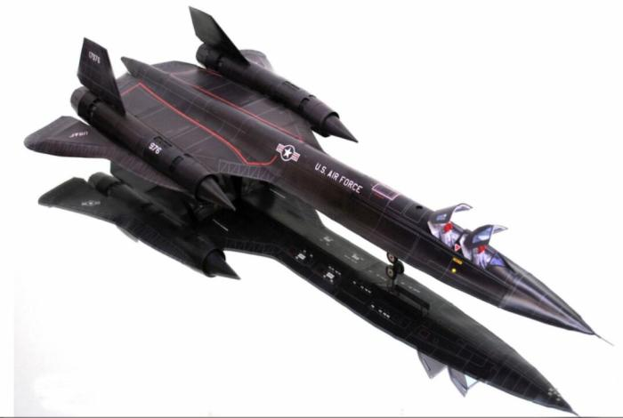 Baroudeur SR-71 'merl' oiseau noir 3D papier modèle bricolage