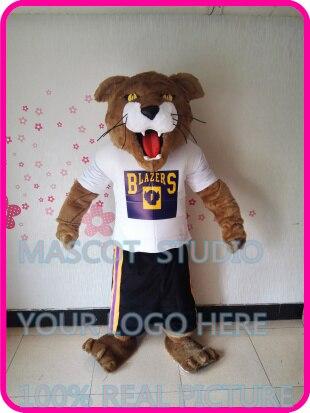 Mascotte cougar mascotte chat sauvage costume mascotte costume personnalisé dessin animé personnage cosplay déguisement mascotte thème