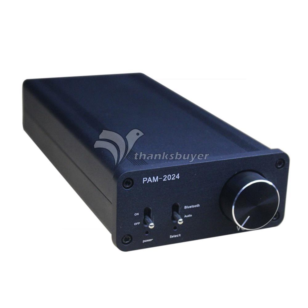 TA2024 Digital Power Amplifier 15W+15W Dual Channel Bluetooth HIFI Amp -Black line5 black and gold a965 100w bluetooth wireless digital power amplifier hifi power amplifier power