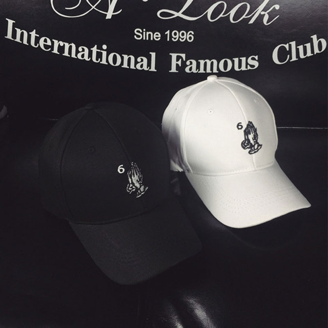 694ec18c04e New Black Drake 6 god pray ovo cap White Praying Hands Strapback Hat  Octobers Very Own OVO Snapback Baseball Cap Trucker