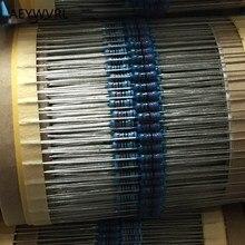 1/4 واط معدن مقاوم من غشاء 1% 10 أوم 2.2 متر أوم 1R 10R 100R 220R 1K 3.3K 4.3K 4.7K 10K 100K مقاومة 0.25 واط معدن مقاوم من غشاء