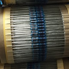 1/4w Metal Film Resistor 1% 10 ohm   2.2M Ohm 1R 10R 100R 220R 1K 3.3K 4.3K 4.7K 10K 100K Resistance 0.25W Metal Film Resistor