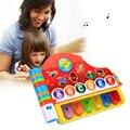 Muchachas de Los Bebés lactantes Rompecabezas Juguetes Educativos Tempranos de Piano Libro de Rimas Musicales Juguetes Con Luz Kids Learning Machine