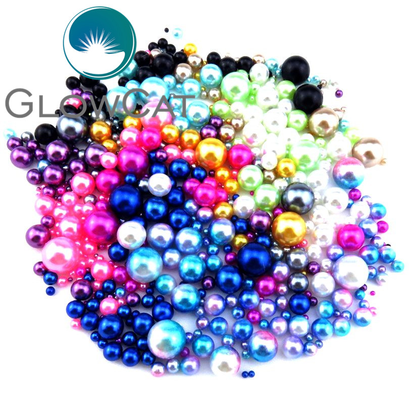12 Colori 2.5/3/4/5/6/7/8/10mm Imitazione Perle Perline, Creazione Di Gioielli Perline Fai Da Te Per Mano Degli Orecchini Della Collana 21688