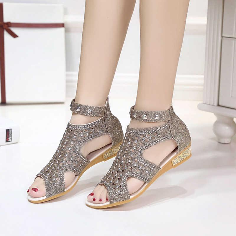 VTOTA Sandals Women Sandalia Feminina 2017 Casual Rome Summer Shoes Fashion Rivet Gladiator Sandals Women Sandalia Mujer B67