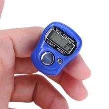 Marcador de Punto para anillo de dedo, luz nocturna LCD, Digital, contador de pasos