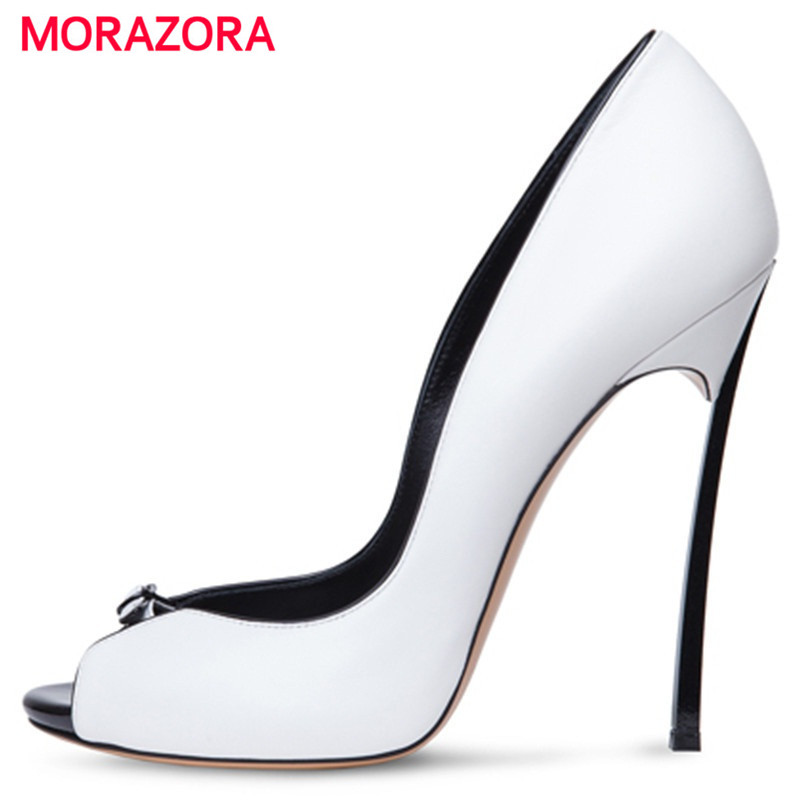 MORAZORA Big size 34-43 high heels shoes spring autumn women pumps party wedding shoes bride two colors solid fashion Europe лежанка для животных добаз цвет светло розовый серый 65 х 65 х 20 см