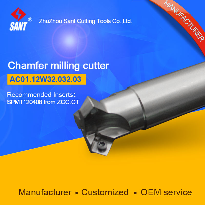 Chamfer milling cutter Indexable insert SPMT120408 From ZCC.CT discAC01.12W32.032.03/CMA01-032-XP32-SP12-03 hot selling Abroad