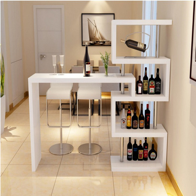 Home Bar Tables Living Room Cabinet Parion Wall Rotating Restaurant Entrance Small Apartment