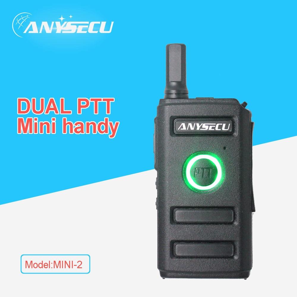 Dual PTT Key Design!! New ANYSECU Mini Radio MINI-2 UHF400-470MHz 16CH Walkie Talkie For Service Industry