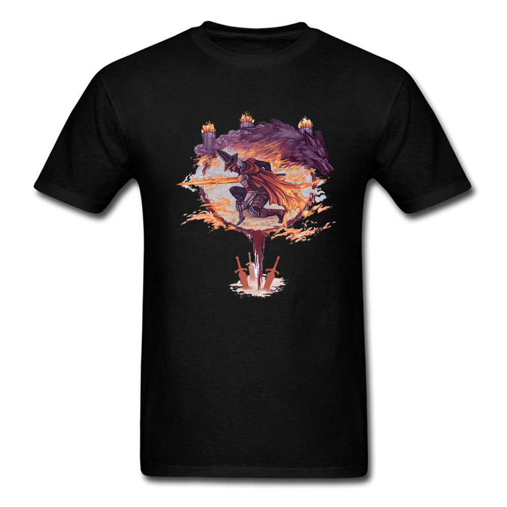 Wolf The Abyss Watchers Crazy T Shirts For Men All Cotton Autumn Tops Tees Casual Tee-Shirts Funky Comfortable T-Shirt On Sale