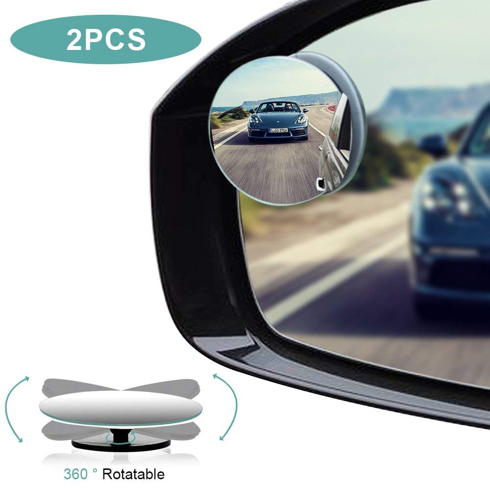 Round HD Glass Convex Rear View Mirror Adjustable Car Blind Spot Mirror