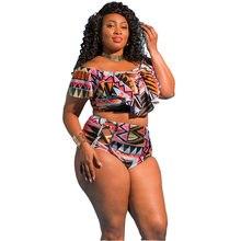 8895b2a7da3 2018 Sexy Floral Push Up Swimsuit Super Plus Size Swimwear Women 5XL  Printed High Waist Bikini