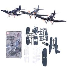 Random Color New 1Pcs 1/48 Scale Assemble Fighter Model Toys Building Tool Sets Flanker Combat Aircraft Diecast War-II