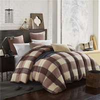 Doremi Grid Washed Cotton And Thick Duck Down Comforters Double Feather Quilt Bedding Filling Blanket