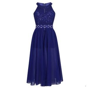 Image 2 - פרחוני תחרה בנות שמלת נסיכת ילדי בנות שמלות למסיבה וחתונה ילדי Vestidos Infantil שרוולים ארוך מקסי שמלה