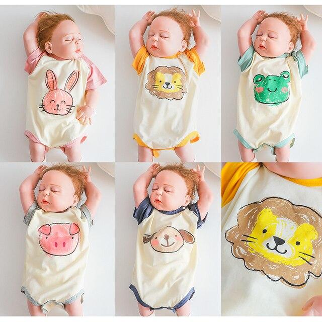 Verão Novo Bebê Menina Bodysuits Animal Dos Desenhos Animados Macacão Macacão de Bebê Recém-nascido Menino Menina Infantil do bebê Macacão sunsuit coelho de estimação