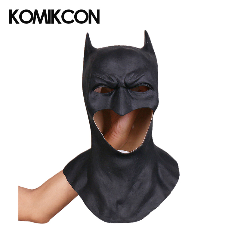 Batman Mask Cosplay Headwear Mask Latex Props Halloween Party Costume Accessories for Men Adult Headgear