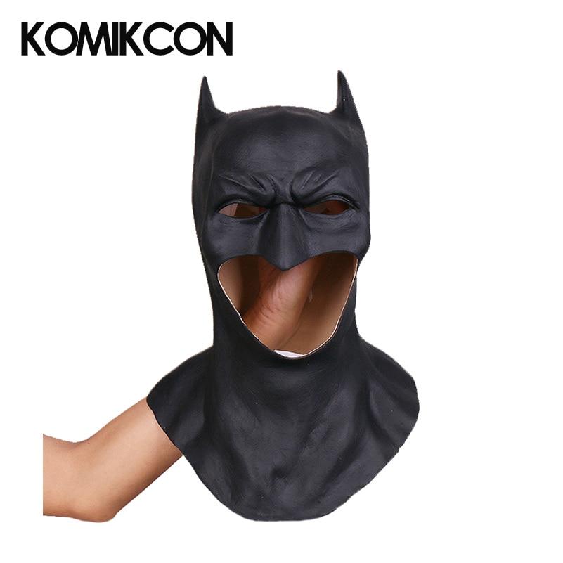 Batman Mask Cosplay Headwear Mask Latex Props Halloween Party Costume Accessories for Men Adult Headgear
