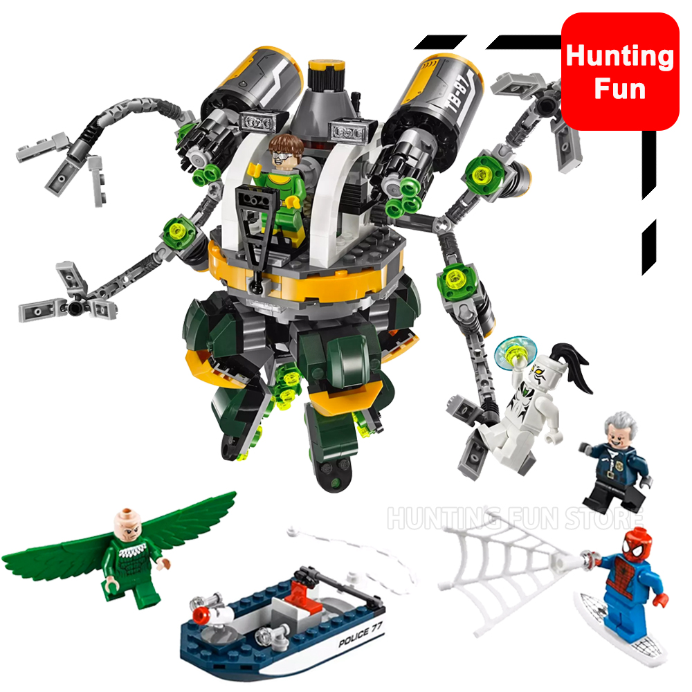 501pcs 07040 Marvel Super Heroes Movie Spiderman Doc Ock's Tentacle Trap Set Fit 76059 Model building blocks toys for Kids Gifts single sale super heroes gi joe series matt with junkyard dog firefly snow job power girl building blocks kids gift toys kf6028