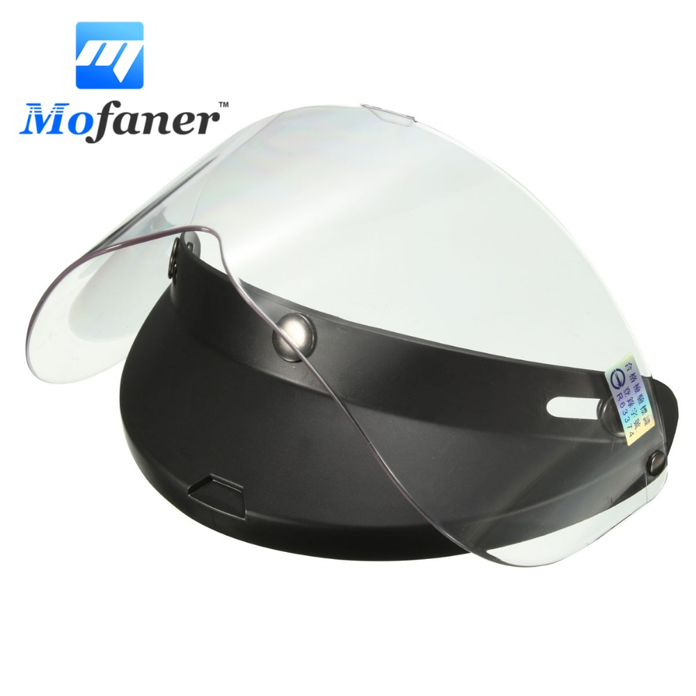 4129588e Universal 3 Snap Retro Open Face Motorcycle Helmet Flip Up Visor Shield  Lens Transparent -in Helmets from Automobiles & Motorcycles on  Aliexpress.com ...