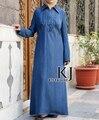 Denmin индонезии платье абая мусульманской одежды и исламская Платье жан платье хиджаб мусульманские долго макси платья