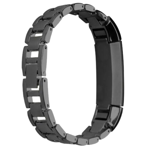 YCYS-Stainless Steel Bracelet Watch Band Strap For Fitbit Alta Smart Tracker Black