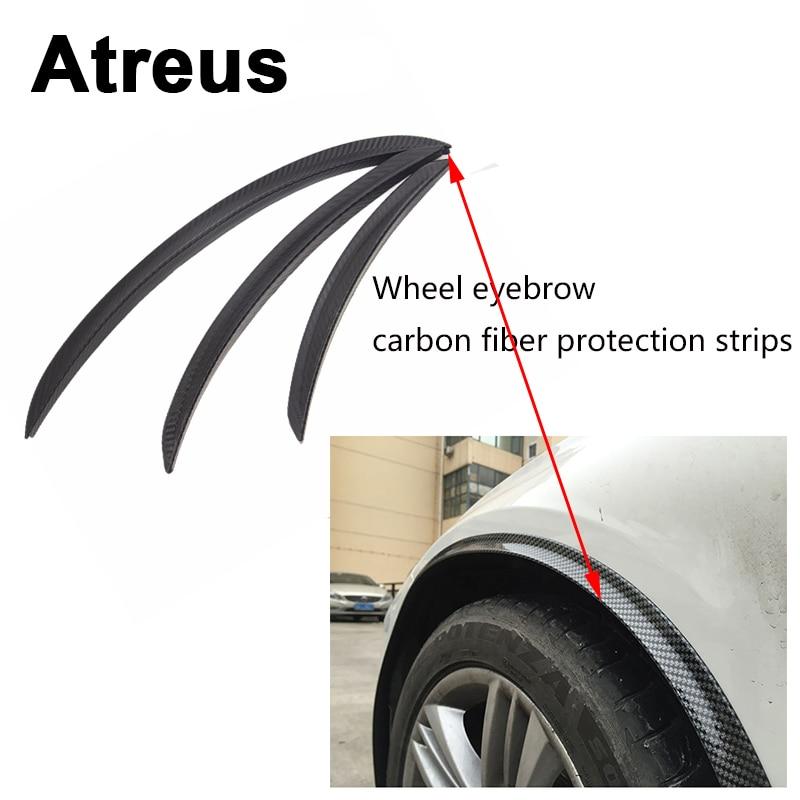 Atreus1pc Car Fender Protect Wheel Tire Edge Eyebrow Carbon Stickers For Mitsubishi ASX Suzuki Subaru Acura Jeep Renegade Fiat
