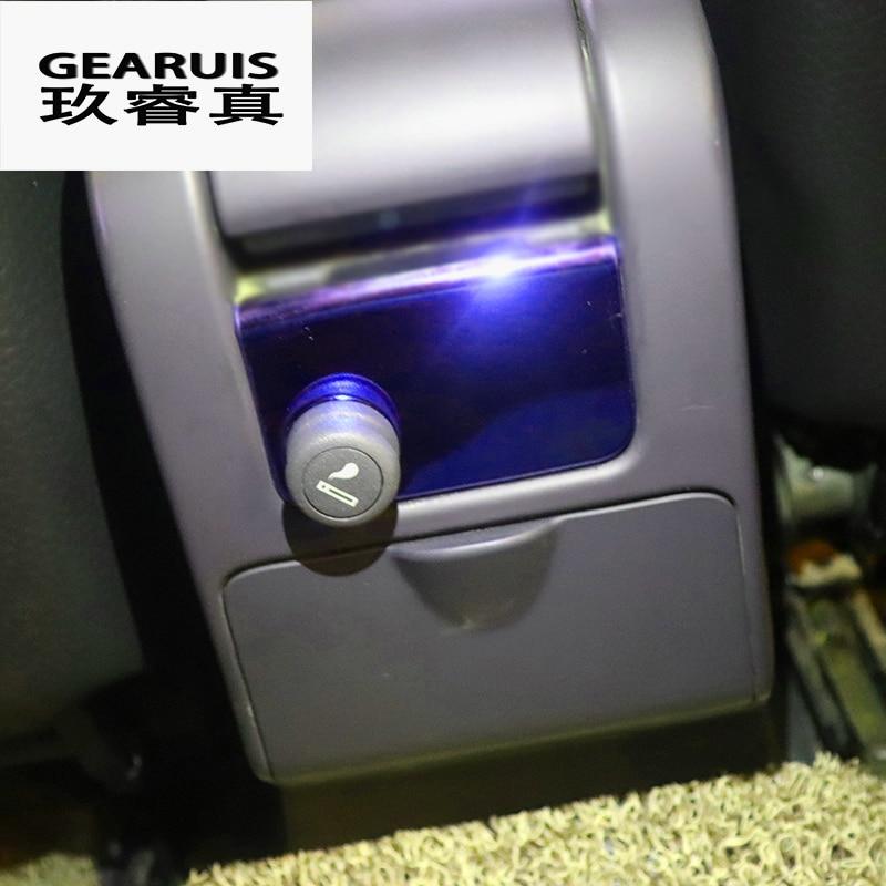 Estilo de coche interior fila encendedor azul de la cubierta de acero inoxidable negro pegatina para Volvo XC60 V60 S60 Auto Accesorios