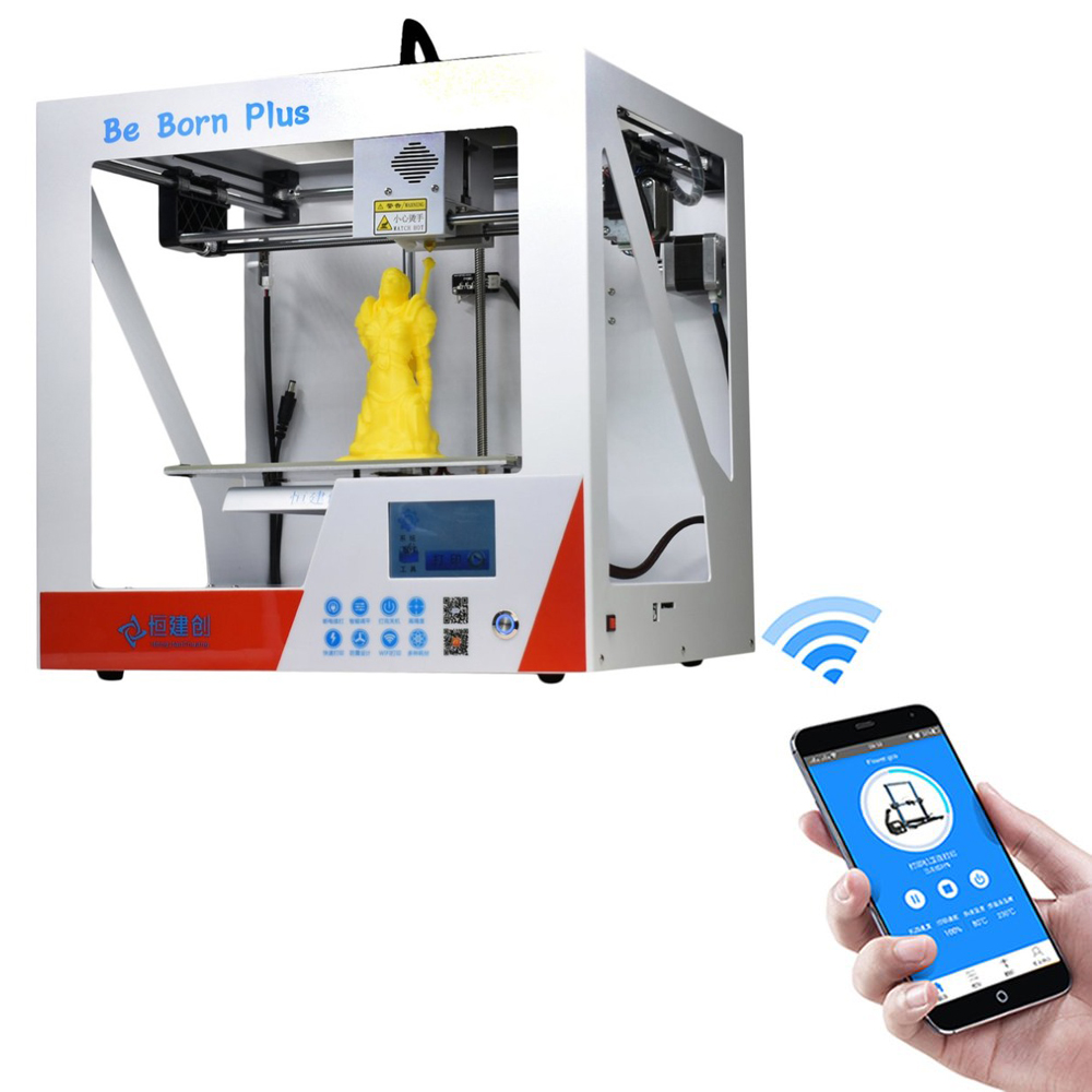 Matte Metal Platform 3D Printer Kit With Heated Bed Auto Level LCD Screen Printing Machiness Professional