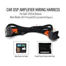 DSP Amplificador do carro cablagem para Novo Skoda/Passat 2017/2015 até Audi A4/Tiguan L/ golf 7/2014 Octavia