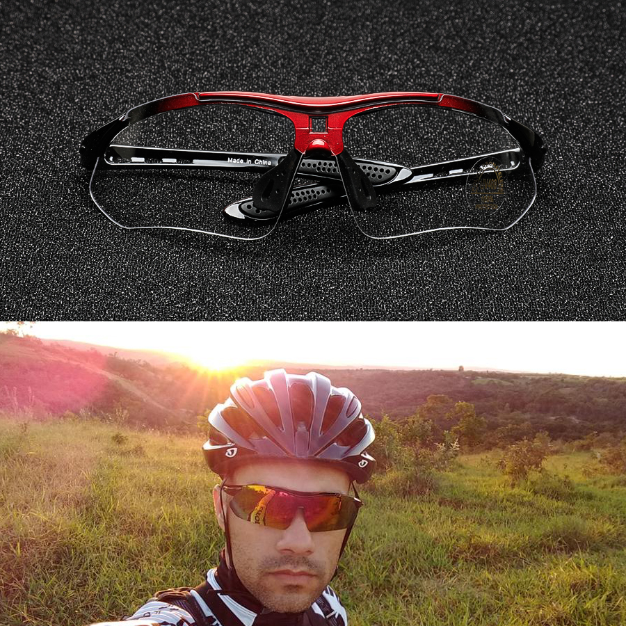 COMAXSUN Professional Polarized Cycling Glasses Bike Goggles Outdoor Sports Bicycle Sunglasses UV 400 With 5 Lens TR90 2 Style 2