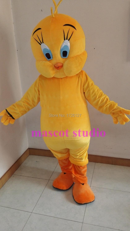Tweety Bird Kostum Maskot Kartun Karakter Kustom Cosplay Mata Kucing Cat Eye Mt03 For Mt25 Dibuat Mascotte Karnaval