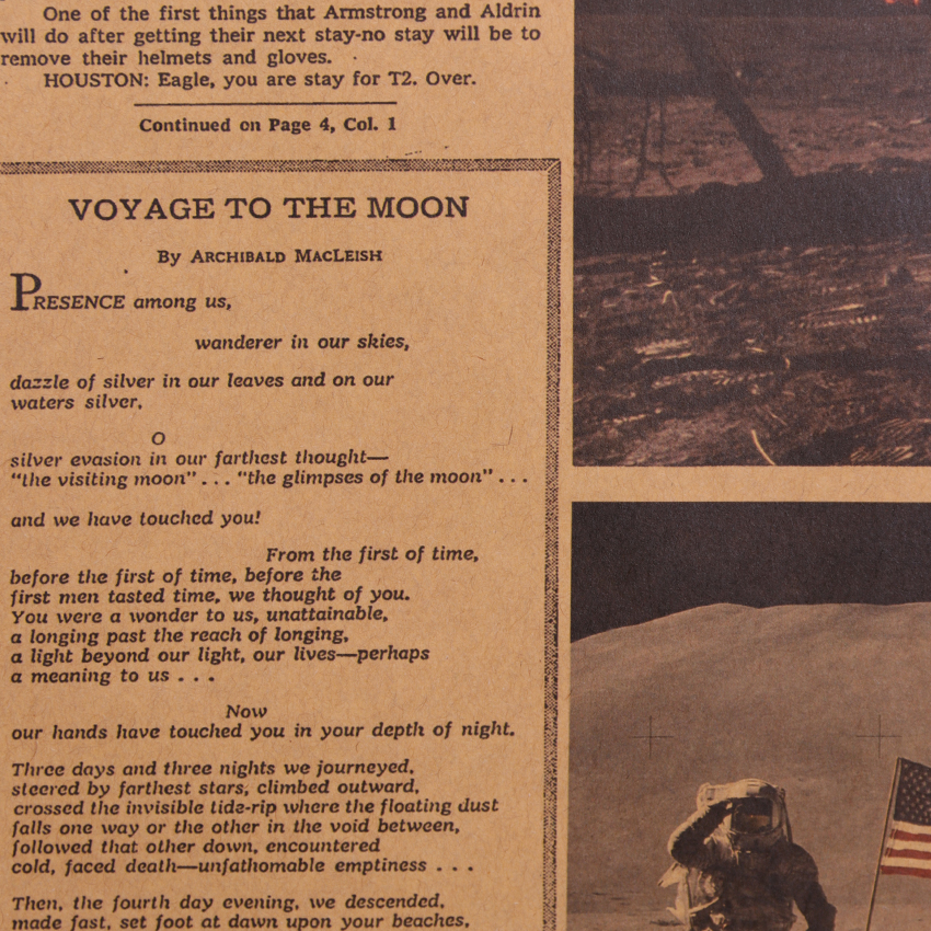 geekoplanet.com - Apollo 11 Moon Landing New York Times Vintage Poster