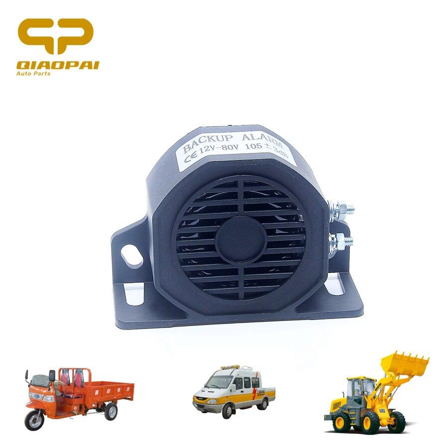 12 В 24 в 48 в 80 в автомобильный сигнал заднего хода сигнализация Безопасность Сигнал 105 дБ громкий звук водонепроницаемый резервный звуковой с...