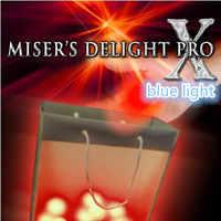 Misers Delight Pro X de Mark Mason (luz azul) truco de magia, escenario, mentalismo, primer plano, calle Magia, ilusión, truco de fiesta, Juguetes