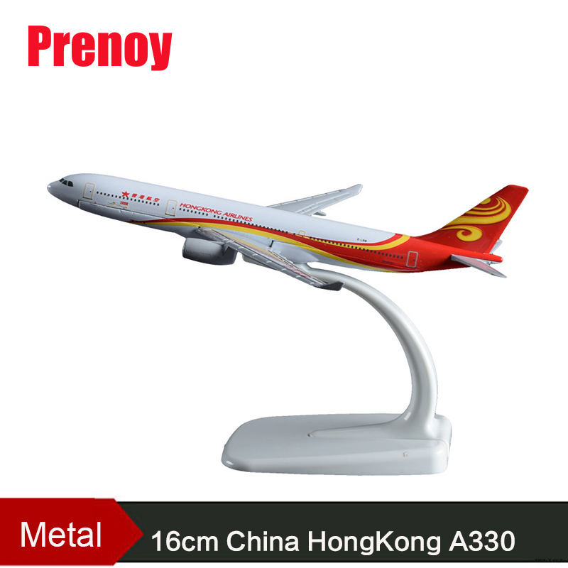 16cm A330 HongKong Airlines Airplane Model Aviation Business Alloy Aircraft Plane Model China HongKong A330 Travel Gift Souvenir