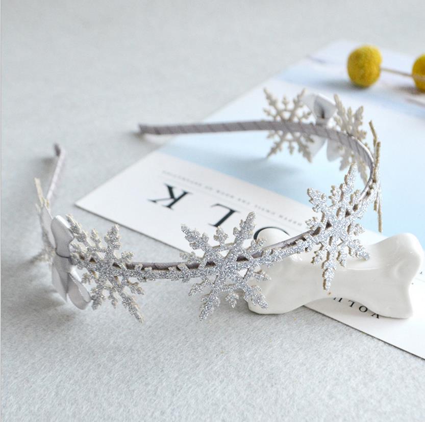 Girls Hair Accessories Elegance Snowflake Hair Band Headband Lovely Princess Hair Clips Kids Fashion Head Hoop Headwear K11