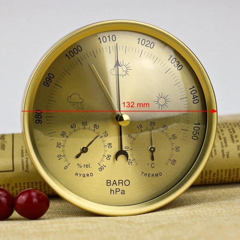 132 мм аналоговый Барометр термометр гигрометр 3 в 1 метеостанция Температура Влажность атмосферный измеритель давления монитор