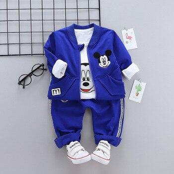 HYLKIDHUOSE 2018 otoño bebé niña conjuntos de ropa de niño de dibujos animados clásicos niño ropa trajes abrigos camiseta pantalones niños traje