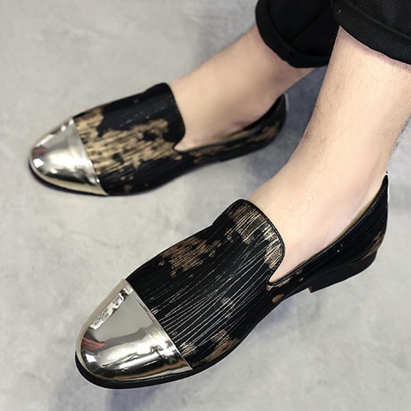 Men's Boat Shoes Social Male Shoe Brand Slip-on Patchwork 2019 New Formal Shoes Men Leather Large Size 5.5-15 Superstar