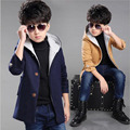 Boys Autumn warm coat kids outwear clothes children thickness jacket wind coat baby Children Solid Casual Kids Overcoat for7-17Y