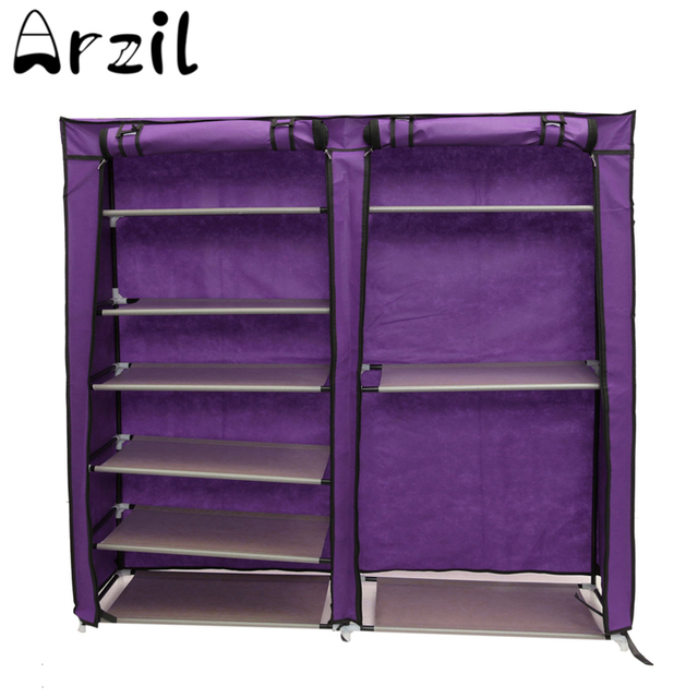 Covered Shoes Rack Home Shoe Storage Fabric Shelf DIY Sundries Organizer  Cabinet Closet Multifunction 6 Tier