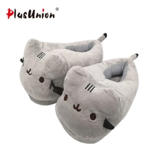 tiger warm winter animal plush indoor slippers cartoon anime furry fluffy house home slipper with fur women adult mules shoes цена и фото