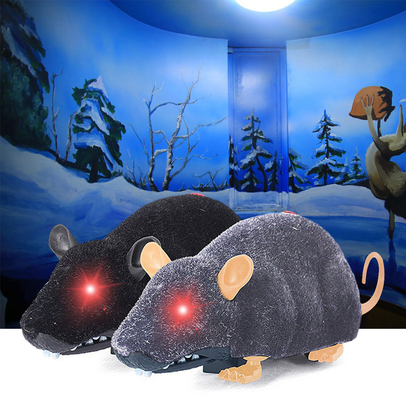 Funny Pet Cat Simulation Mice Toy Remote Control Mouse Electronic Fur Mouse Toy for Cat Running Game FJ88