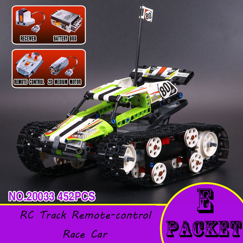 New Lepin 20033 Technic Series The RC Track Remote-control Race Car Set Building Blocks Bricks Educational Toys 42065 rc pozen the mutual fund business complete video series set 1 2