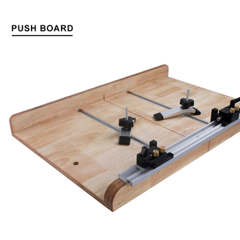 цена на Miter Tool Bar Metal Portable T Tracks Limit Beveled Track Chute Practical Hardware Pusher Woodworking Modification
