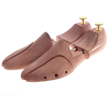 Twin Tube Red Cedar Wood Adjustable Shoe Shaper Men's Shoe Tree